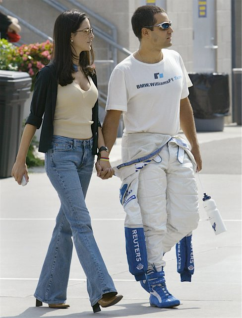 Juan Pablo Montoya's wife Connie Freydell