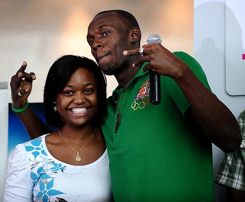 Usain Bolt's girlfriend Mizicann Evans