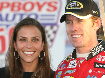 Carl Edwards wife Dr. Kate Downey