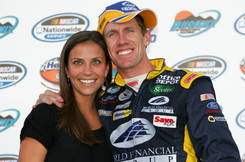 Carl Edwards with cool, beautiful, Wife Katherine Downey