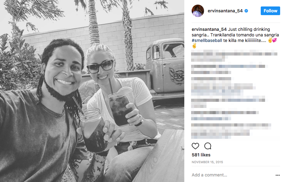 Ervin Santana's wife Amy Santana