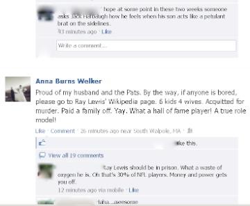 Wes Welker's wife Anna Burns