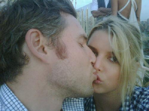 Eric Johnson's fiancee Jessica Simpson