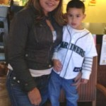 Felix Hernandez wife Sandra and son