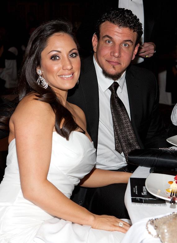 Frank Mir e sua esposa, namorada e mulher Jennifer Mir