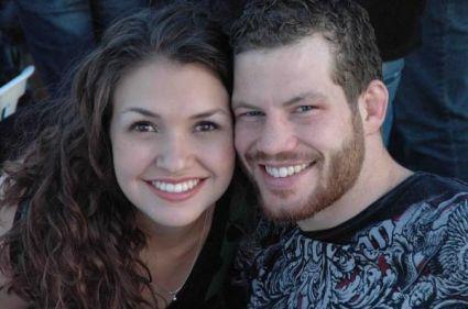 Nate Marquardt e sua namorada, esposa e mulher Tessa Marquardt