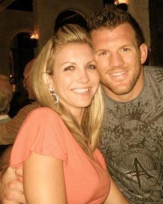 Ryan Bader e sua namorada, esposa e mulher Daisy Bader