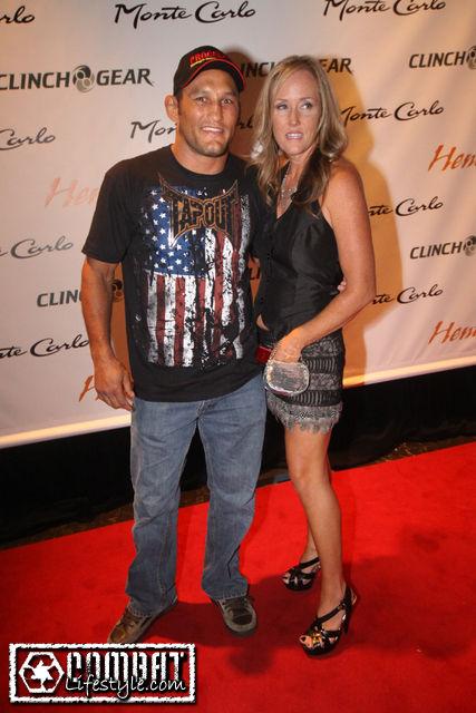 Dan Henderson e sua esposa, namorada e mulher Alison Henderson