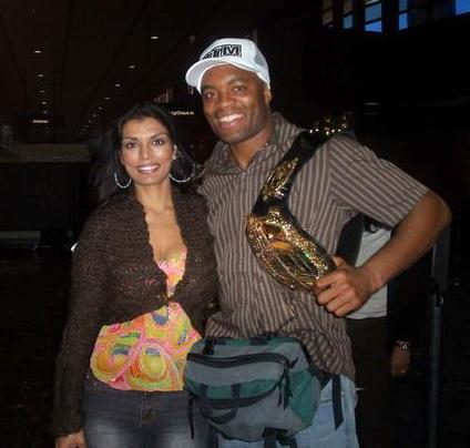 Anderson Silva with cool, cute, Wife Dayane Silva