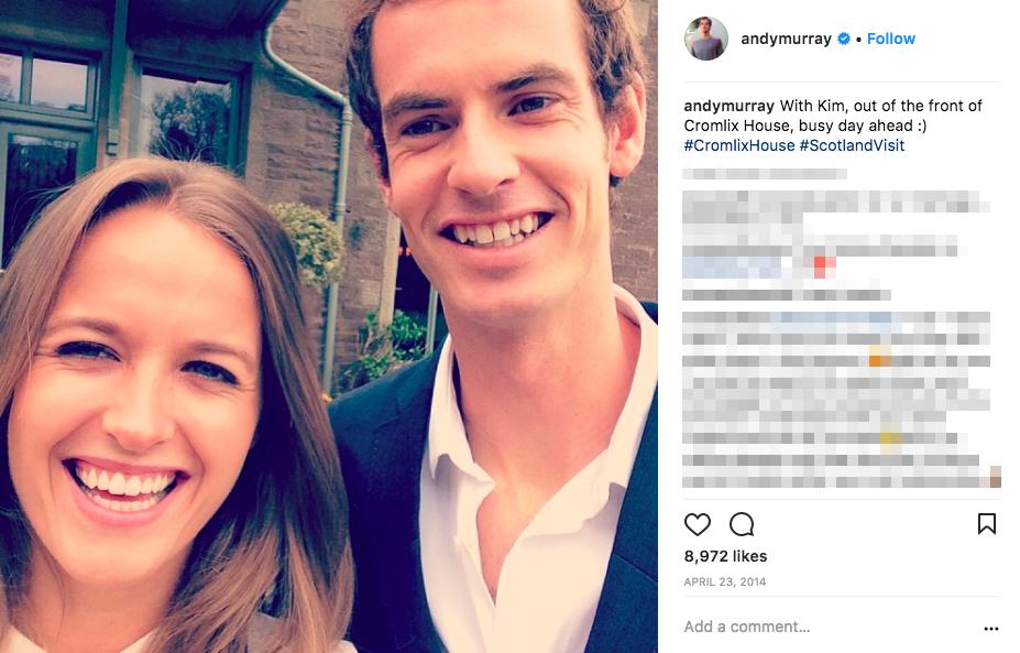 Andy Murray's wife Kim Sears