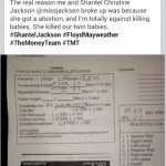 Floyd Mayweather's girlfriend Shantel Jackson - Facebook