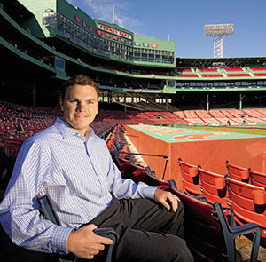 "Red Sox GM in waiting, Ben Cherington, will now be in charge of leading the ""player development and scouting machine"" as soon as Theo's move to the Cubs is finalized."