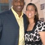 Brandon Jacobs and Wife Kim Jacobs @ athleteswives.com