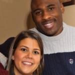 Brandon Jacobs and Wife Kim Jacobs @ ballerwives.com