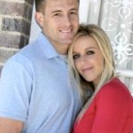Jessica Dorrell and her ex-fiance Josh Morgan