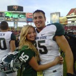 Garrett Celek's girlfriend Sarah Hinton @ msuspartans.com