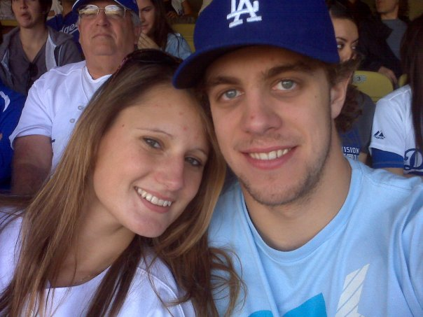 Anze Kopitar with cool, Wife Ines Dominic