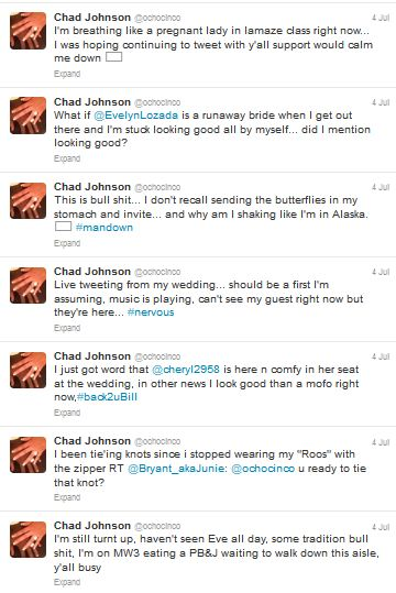 Chad Ochocinco's wedding to Evelyn Lozada