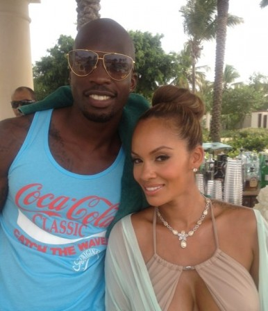 Chad Ochocinco's wife Evelyn Lozado