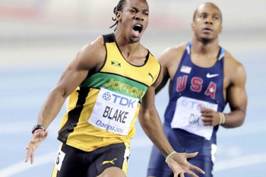 Yohan Blake's girlfriend @ Jamaice Gleaner