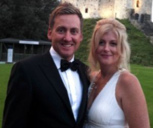 Ian Poulters and his wife Katie Poulter