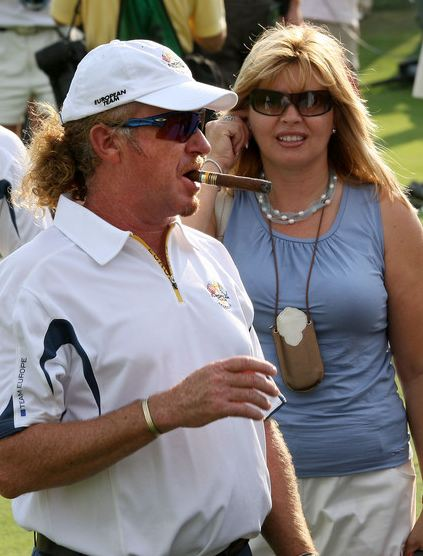 Miguel Angel Jimenez's wife (ex) Marian Jimenez and girlfriend Susanne Styblo