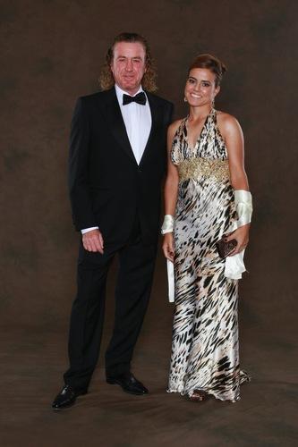 Miguel Angel Jimenez's wife (ex) Marian Jimenez and girlfriend Susanne Styblo