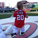 Ian Desmond and wife Chelsey Desmond's son Grayson
