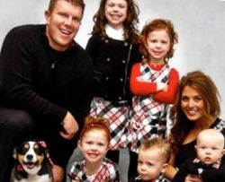 Matt Birk with his wife and family