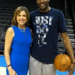 Hannah Storm with Kevin Durant