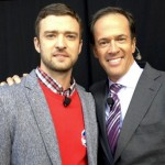 Hannah Storm's husband Dan Hicks with Justin Timberlake