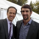 Hannah Storm's husband Dan Hicks with Michael Phelps