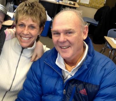 George Karl's girlfriend Kim Van Deraa and ex-wife Cathy Cramer