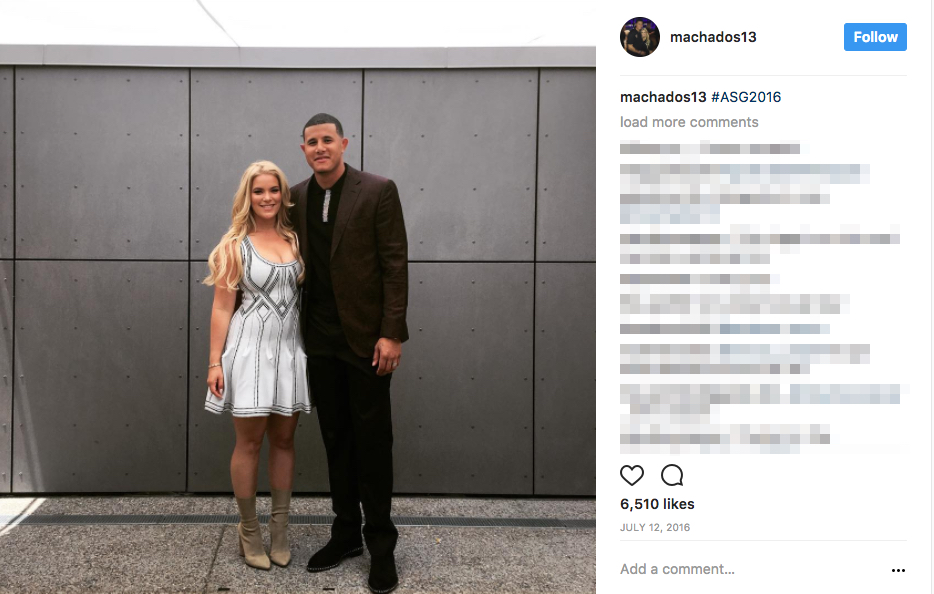 Manny Machado's wife Yainee Alonso