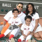 Felix Doubront, his wife Kimberly Doubront and their sons