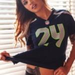 Marshawn Lynch's girlfriend Charmaine Glock - TerezOwens.com
