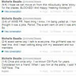CM Punk's girlfriend AJ Lee - Brawl with Beadle - Twitter