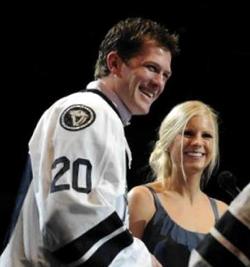 Ryan Suter with beautiful, Wife Becky Suter