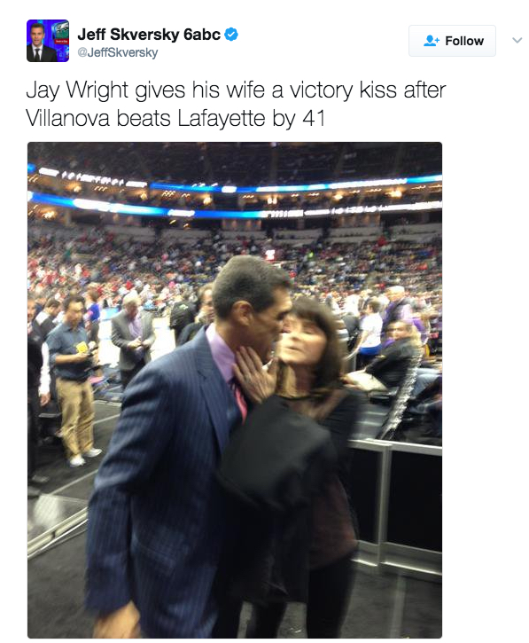 Jay Wright's wife Patty Wright