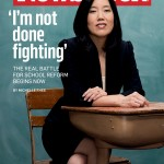 Kevin Johnson's wife Michelle Rhee on cover of Newsweek