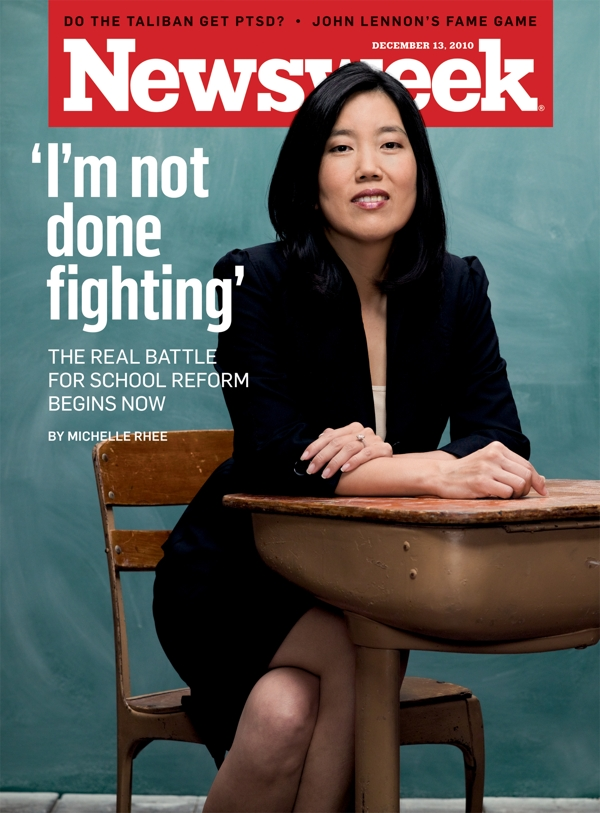 Kevin Johnson's wife Michelle Rhee
