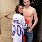 Tomas Hertl's girlfriend Aneta Netolicka - Twitter