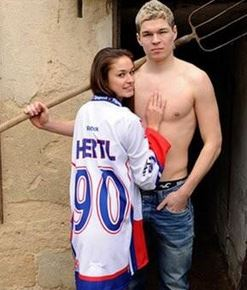 Tomas Hertl's girlfriend Aneta Netolicka