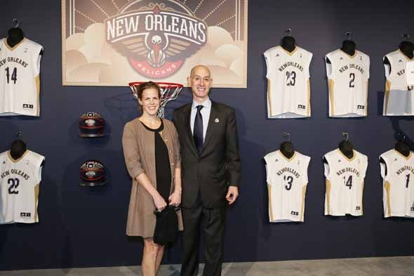 Adam Silver's wife Maggie Grise