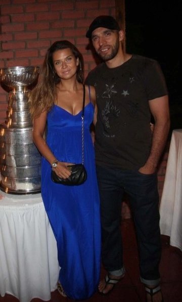 Mical Rozsival's wife Jana Roszival