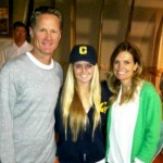 Steve Kerr's wife Margot Kerr and daughter Maddy Kerr