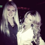 Courtney Fischer (L) - Drew Doughty's girlfriend Nicole Arruda (R)