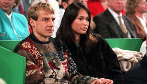 Jürgen Klinsmann with beautiful, gracious, Wife Debbie Chin
