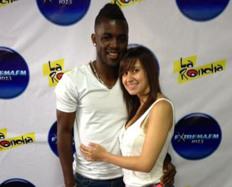 Joel Campbell with beautiful, Girlfriend Maria Cascante