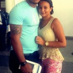 Oscar Taveras and Girlfriend Jamali Arvelo